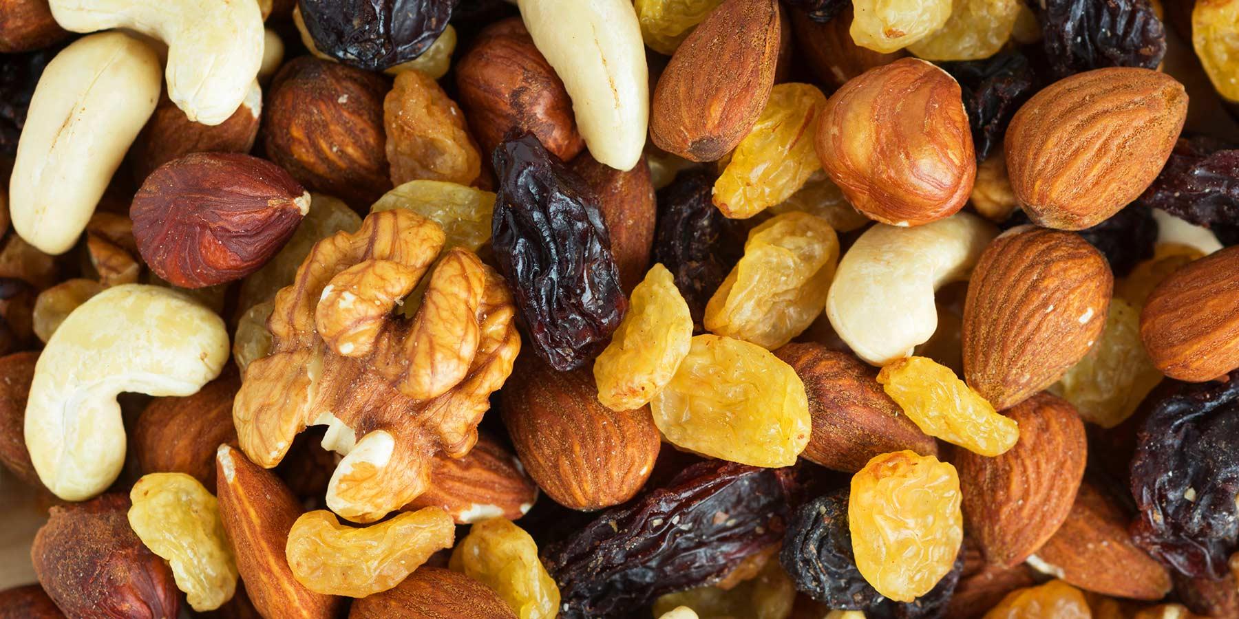 frutta secca per lo sport